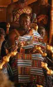 Asantehene Osei Tutu II wearing kente, 2005