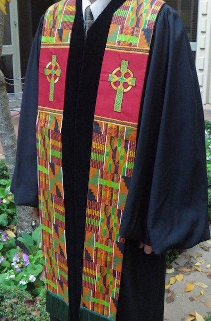 kente cloth stole clergy