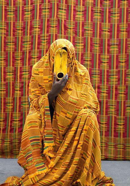 Serge Clottey, kente sculpture