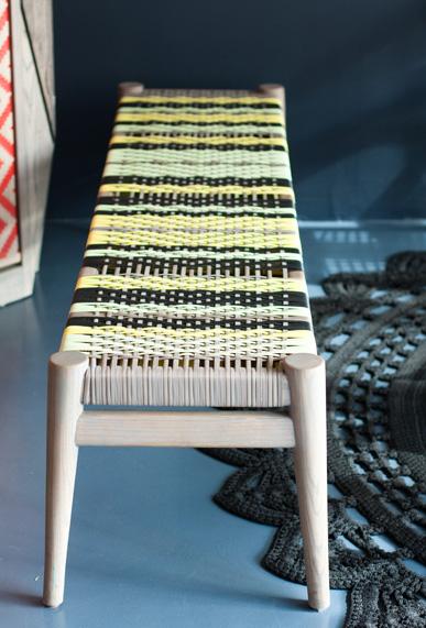Woven bench, Vogel design