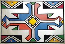 Esther Mahlangu canvas
