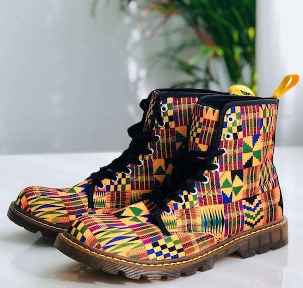 Kente fun with boots!