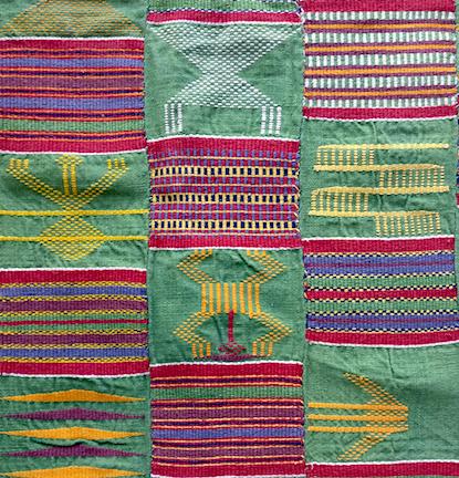 Vintage Ewe freshgreen kente cloth