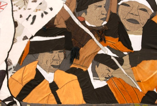 Guernica tapestry detail, 'Mourning Women'