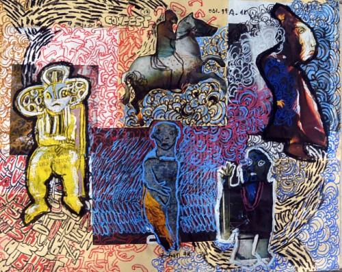 collage acrylic papier gallery artes