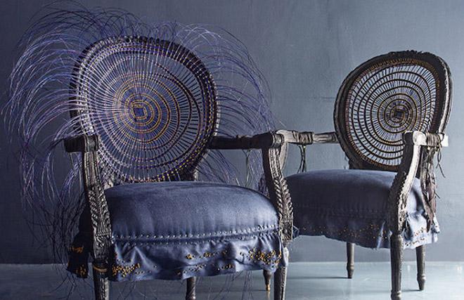 Atang Tshikare, Leifo blackened timber chair