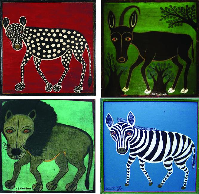 ES tingatinga paintings