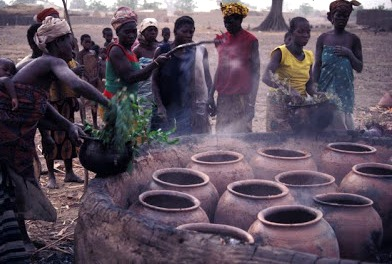 blackening pottery