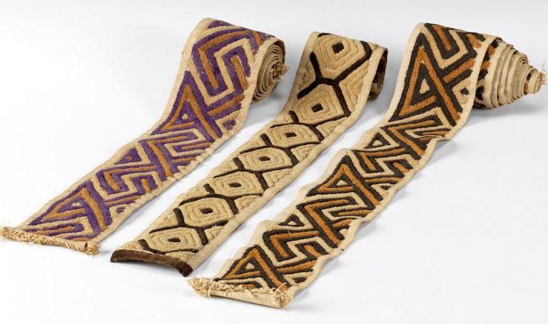 Bushong borders, 'Shoowa' style for kuba cloths