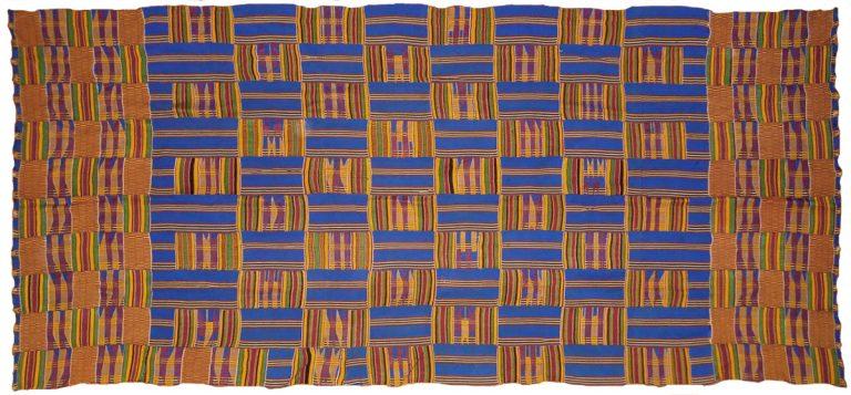 'The King has Boarded the Ship' (Asante kente cloth), 1985, rayon