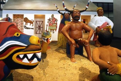 Voodoo Zangbeto Legba 7 sculptures Cyprien