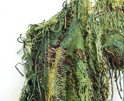 'Groen Amara'- Detail 2016, Woven nylon, rope, string