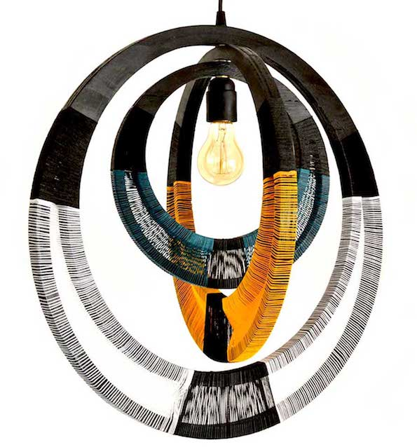 woven necklace lampshade