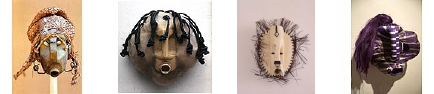 Photos of African masks