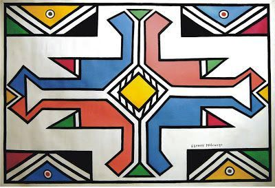 Esther Mahlangu canvas