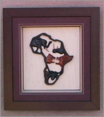 framed African big five
