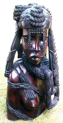 MAMA AFRICA wood hand carved, master piece