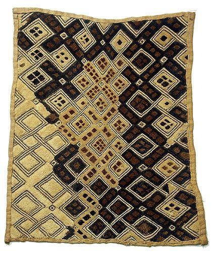 Asymmetrical Kuba shoowa cloth, Hamill Gall