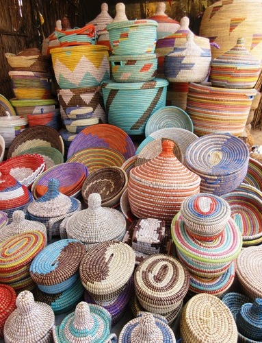 senegalese roadside baskets
