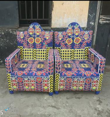 Collector's Beaded Chair from Africa