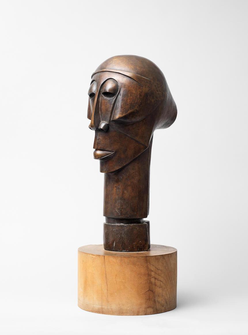 Dumile Feni Mhlaba, bronze head, 1970-1975