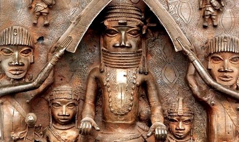 Benin metal plaque