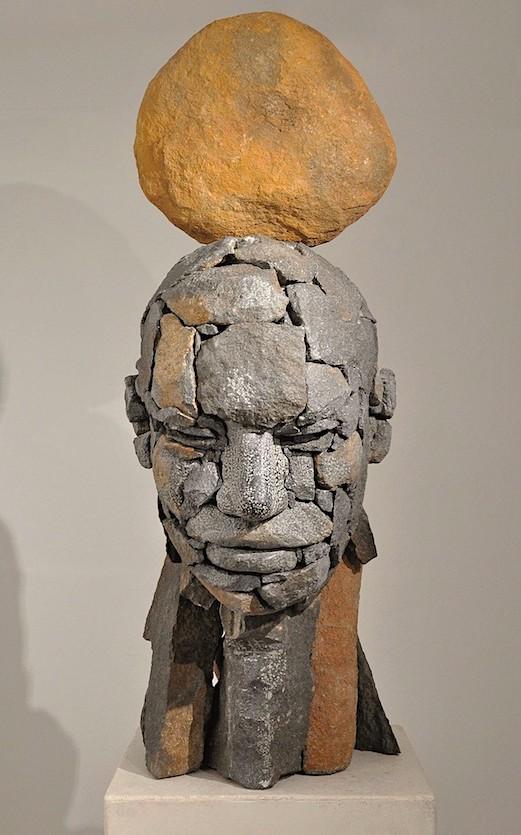 Angus Taylor, composite portrait, stone