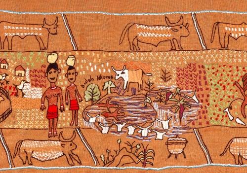 drowning cows detail keiskamma tapestry