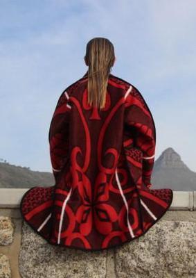 Re-envisioned Red Basotho Blanket