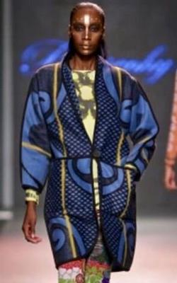 Re-envisioned Blue Basotho Blanket