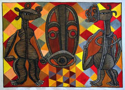 HOMAGE TO CHRISTIAN LATTIER by Contemporary African Artist Ephrem Kouakou