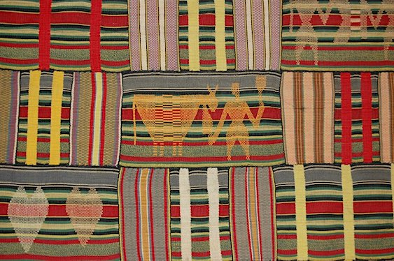 Ewe Kente Cloth (detail), 1920-40, Ghana, cotton