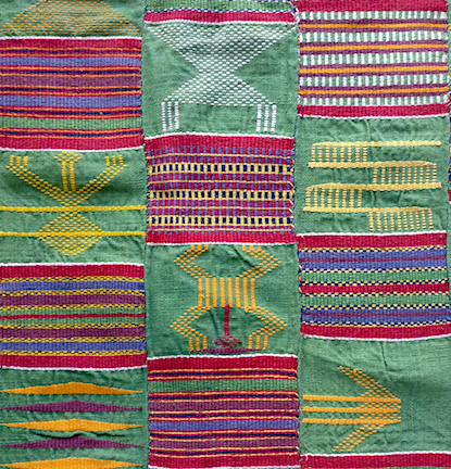 Vintage Ewe freshgreen kente cloth