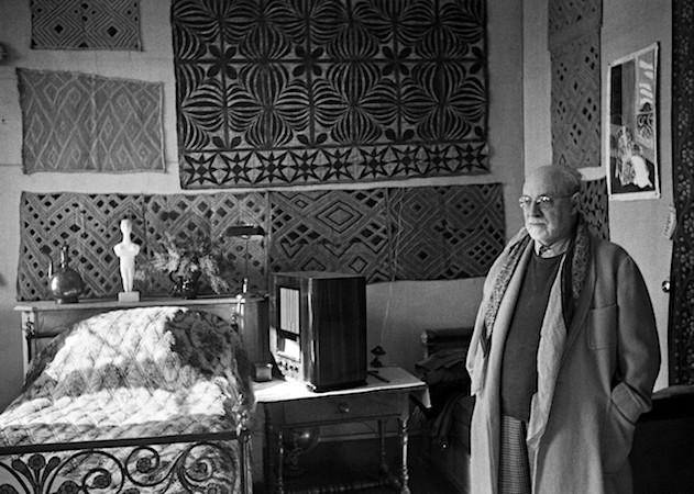 Henri Matisse studio with Cuba cloths adorning walls