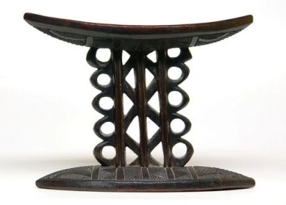 Igbo chair, incised decoration