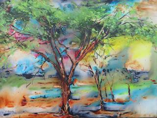 Acacia, acrylic