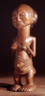 Luba female figure