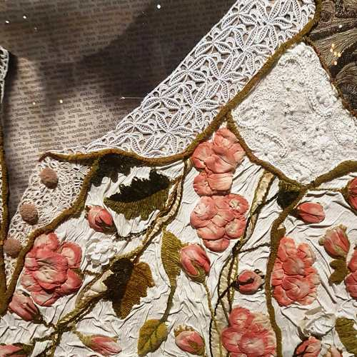 Detail, Marion Boehm, textile collage