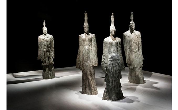 'Return of the Gods', bronze, Deborah Bell