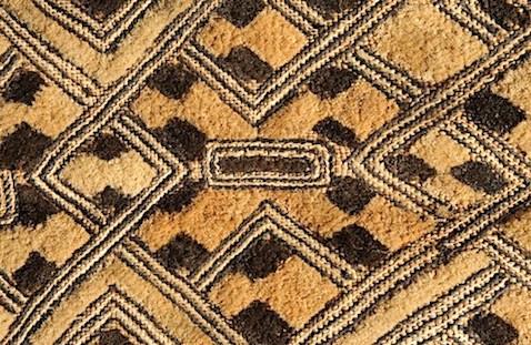 shoowa cloth, closeup of plush velvet cut-pile