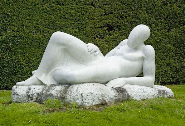 Stella Shawzin, 'Reclining Woman', marble