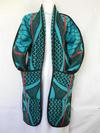 Re-envisioned Turquoise Basotho Blanket
