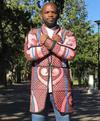 Re-envisioned Pink Basotho Blanket