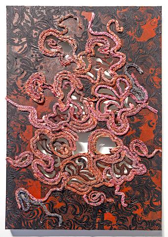 Udondian paint and fibre