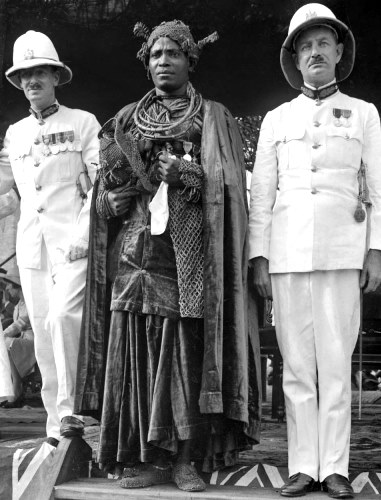 Earl of Plymouth Visiting the Oba Akenzua II-1938