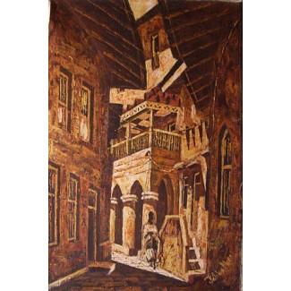 Streets In Zanzibar Oil on Canvas