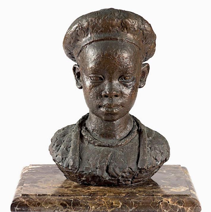 Moses Kotler, 'Mapula', bronze, 1957