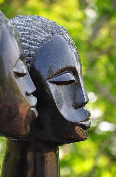 Shona stone heads